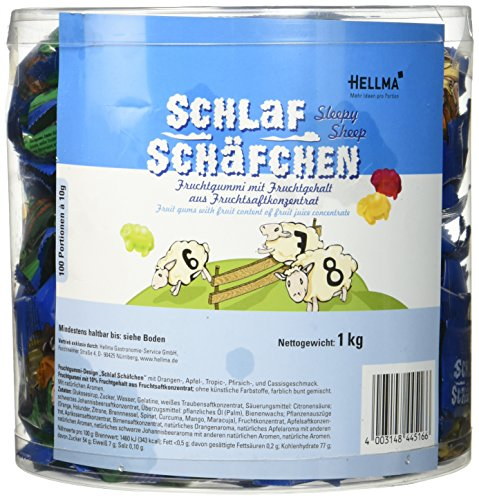 Hellma Schlaf-Schäfchen 100Stk, 1er Pack (1 x 1000 g)