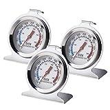 EMSea Juego de 3 termómetros de doble calibre para horno, Fahrenheit 100 a 600 y Centigrado 50-300...