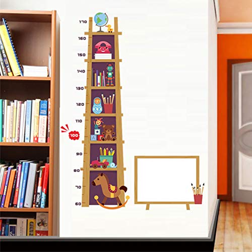 ZPZZPY Adesivo Da Parete Misura Altezza Giocattolo In Cartone Altezza Scala Rimovibile Kids Baby Nursery Camera Da Letto Decalcomania Grafico Di Crescita Decor Poster Art