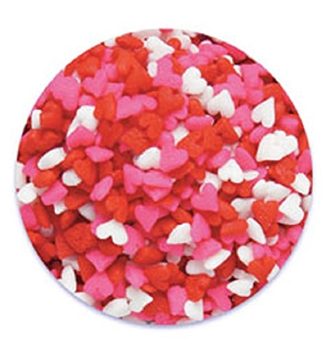 Oasis Supply Valentine's Hearts Sprinkle Quins, 8-Ounce, Red, White and Pink by Oasis Supply