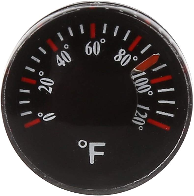 YUNAWU Diameter 20mm Plastic Thermometer Circular Thermograph Fahrenheit Indoor Outdoor