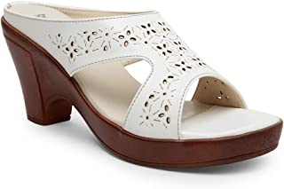 Butterflies Steps Latest Collection, Comfortable Heels Sandal for Women's & Girl's (White) (GHS-0033WH)