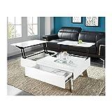 Générique Zanzibar Table Basse Transformable 110x75 cm - laqué Blanc Brillant