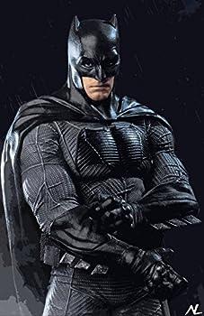 NLopezArt Batman -Ben Affleck from Batman V Superman Justice League Superhero Pop Art Illustration #3 Poster Print  11x17 inches