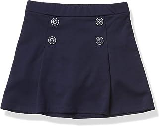 The Children's Place girls Toddler Uniform Ponte Knit Button Skort Toddler Uniform Ponte Knit Button Skort