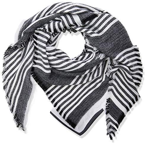 TOM TAILOR Damen Dreiecks Schal, Mehrfarbig (Grey Beige Structure 20220), One Size (Herstellergröße: Oversize)