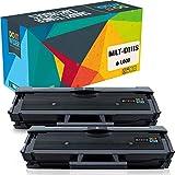 Do it Wiser Cartuchos de Tóner MLT-D111S Compatibles para Samsung Xpress M2026W, M2020W, M2070, M2070FW, M2026, M2020, M2022, M2022W, M2070W, M2070F, M2078W (Pack de 2)