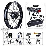 Greenergia 48V 750W Ebike Conversion Kit for Fat Bike DIY Electric Bike Cassette Motor Kit (26' Wheel+ SW102 Display)