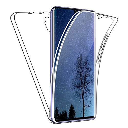 SDTEK Custodia Compatible con Xiaomi Mi Note 10 Lite Protezione Frontale Posteriore Tutto Corpo 360 Cover Trasparente Trasparente