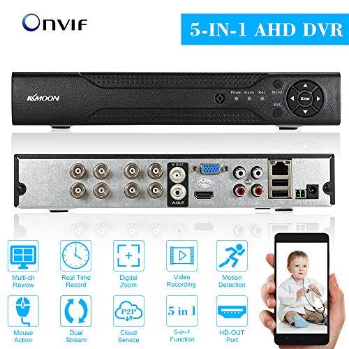 KKmoon, Videoregistratore DVR, DVR Video Recorder, Videoregistratore Digitale, 8 Canali 720P CCTV Network H.264 Sistema di Sicurezza Domestica