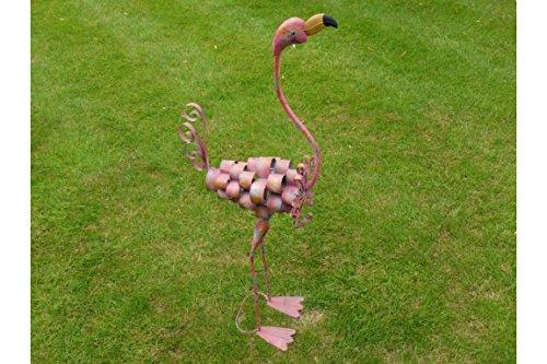 Ablerhome Decor Large Pink Flamingo Garden Sculpture Metal Wild Bird Lawn Ornaments Home Patio Decoration NEW (Tall Flamingo)