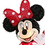 """Disney Exclusive Pixar 23.62"""" (1.96ft Tall) Minnie Mouse Lighted Tinsel Yard Sculpture with White Incandescent Lights UL Certified"""