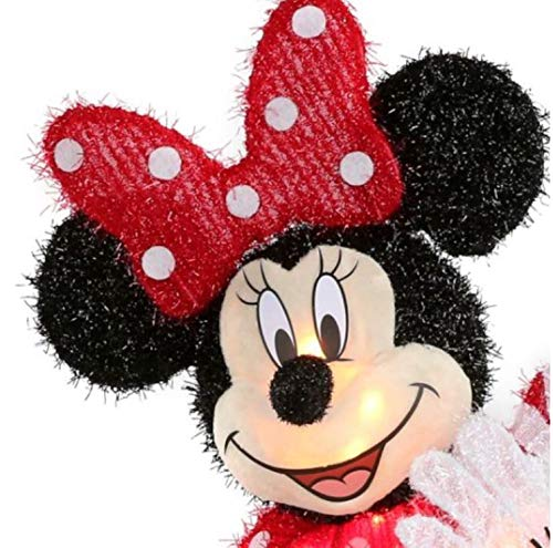 Disney Exclusive Pixar 23.62' (1.96ft Tall) Minnie Mouse Lighted Tinsel Yard Sculpture with White Incandescent Lights UL Certified