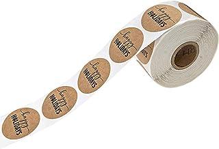 シチリア努力シャックルラベルロール 粘着ラベル ホリデーステッカー 粘着タグ 値札 紙値札 スクラップブッキング用品 約500枚入り