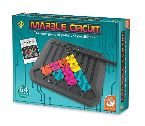 MindWare Marble Circuit – Logic Game for 1 Player – Great Gift for Kids who Like Puzzles & Brain teasers – 64 Card Challenges & 24pcs – Fun for Kids & Adults – Ages 8+