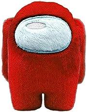 KKP - Peluche con personaggio Crewmate- Un Impostore Tra Di Noi del gioco Among Us, colore: rosso, 10 cm