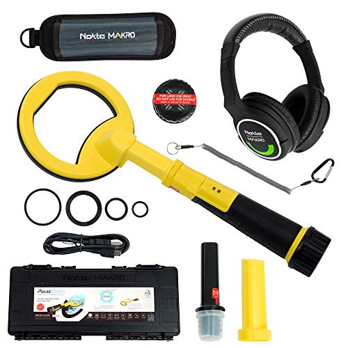 PulseDive Nokta Makro Scuba Pinpointer - Yellow Bundle with Wireless Headphones
