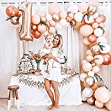 MMTX Ballon Girlande Set Roségold, Doppelt Luftballon Girlande Party Deko, 5m Ballonbogen Kit Latex Ballons JGA Luftballons Hochzeit für Geburtstag Mädchen Baby Dusche - 5