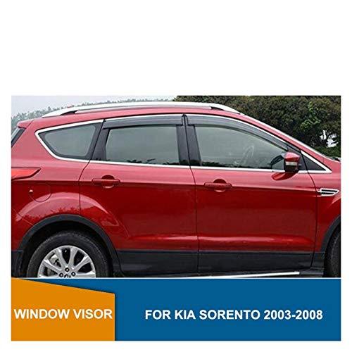 WRDD Windabweiser Für Kia Sorento 2003-2008 Autofenster Rain Protector Fenster Visier Vent Shades Sun Rain Deflector Guard Autofenster Regenschutz
