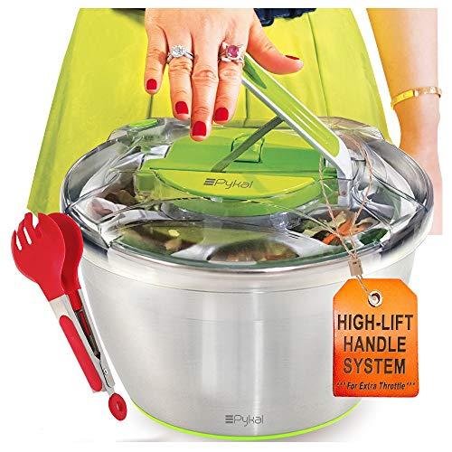 Centrifugadora para ensaladas grande de acero...