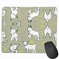 ウサギのパターン マウスパッド 25×30 大判 ノンスリップ 防水 ゲーミング おしゃれ マウスの精密度を上がる