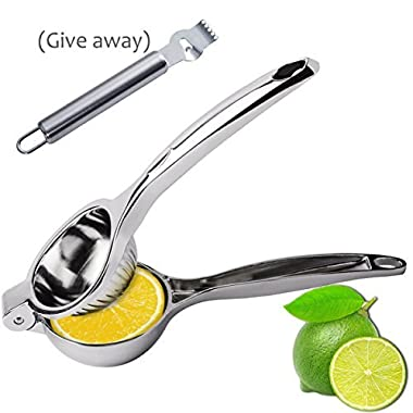 Lemon Squeezer, Manual Stainless Citrus Hand Press Lemon Juicer with Lemon Zester By E-wor