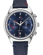 Tommy Hilfiger Reloj Analógico para Hombre de Cuarzo con Correa en Cuero 01791728