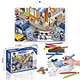 Police Car Jigsaw Puzzle by Super Francisco - 2-Sided Police Car Jigsaw Puzzle - Advance Cognitive Development - Impart Teamwork - Develop Focus - Enjoy Learning Police Ops - Build Confidence