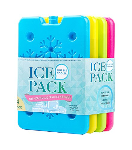 Ice Packs for Lunch Boxes, Lunch Bags & Coolers - Pack of...