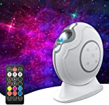 AIRSEE Star Projector, Aurora Galaxy Projector Night Light with Remote Control & Auto-Off Timer, Rechargeable LED Laser Nebula Projector for Kids Halloween Adults Bedroom Ceiling Party White