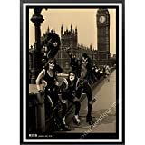 daerduotutu Heavy Metal Kiss Rock Band Carteles de Papel Kraft Lienzo Pintura Equipo de música Estrella clásico Decorativo B62 50 × 70 CM sin Marco