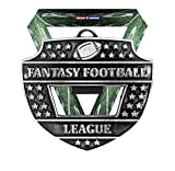 Decade Awards Fantasy Football League Medal and Bottle Opener - Silver - FFL Medallion with Football Field V Neck Ribbon - 3 Inch Wide - Customize Now