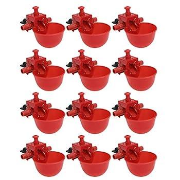 Holibanna 12 Pcs Automatique Buveur d'eau De Poulet Réglable Volaille Tasse À Boire Poussin Machine À Boire Automatique Abreuvoir À Oiseaux pour Pigeons Cage Abreuvoir 9. 5Mmred