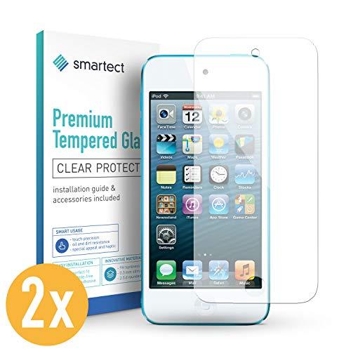 smartect Panzerglas kompatibel mit iPod Touch 7G / 6G / 5G [2 Stück] - Displayschutz mit 9H Härte - Blasenfreie Schutzfolie - Anti Fingerprint Panzerglasfolie
