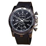Men Wrist Watch - SBAO Stainless Steel Luxury Sport Analog Quartz Modern Men Fashion Wrist Watch Black