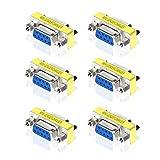 V.TOP ジェンダーチェンジャー 9ピンRS232 D-SUB 小型アダプタ D-Sub9ピン メス - D-Sub9ピン メス RS232 DB9コネクタ(6個パック)