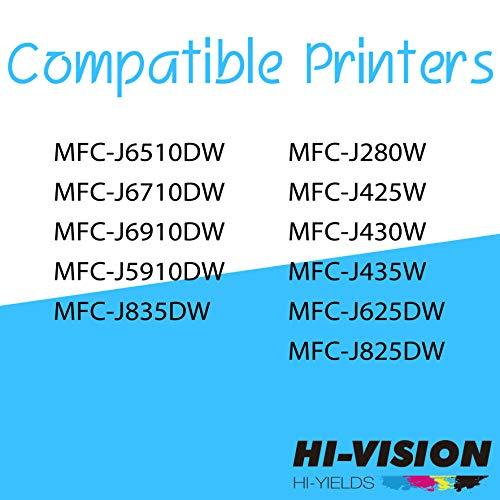 HI-VISION HI-YIELDS - Cartucho de Tinta Compatible LC-75 LC75 (4 Negro, 2 Cian, 2 Amarillo, 2 Magenta, 10 Unidades)
