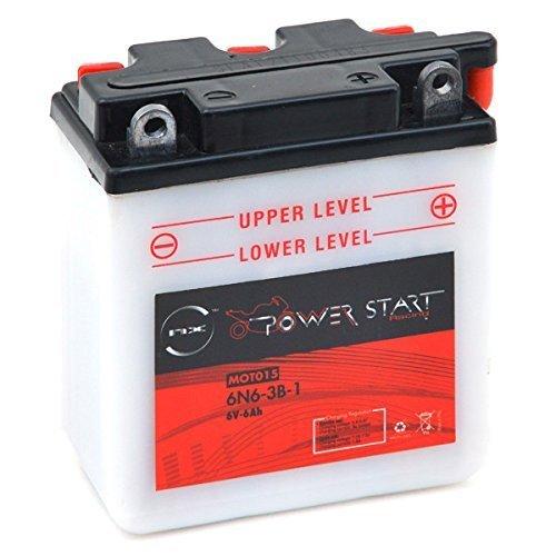 NX - Batteria moto 6N6-3B-1 6V 6Ah - 6N6-3B1;6N6 3B 1;6N6-3B-1;6N6 3B1;VARTA 006