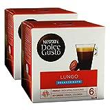 Nescafé Dolce Gusto Caffè Lungo Decaffeinato, Paquete de 2, 2 x 16 Cápsulas
