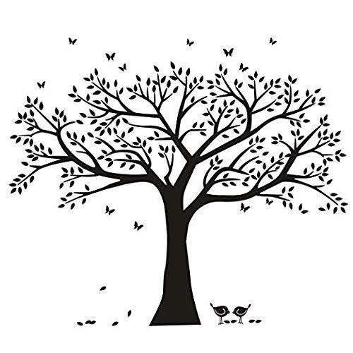 "BDECOLL Wandtattoo\""riesiger Familie Foto Baum\"" Wandsticker,DIY Dekorativ Kunst Wandaufkleber,Baum Wandaufkleber für Kinderzimmer Dekorationv(B)"