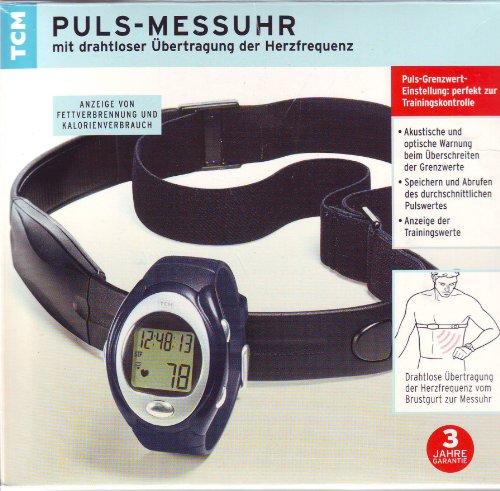 Pulsmessuhr mit drahtloser Übertragung der Herzfrequenz anzeige von Fettverbrennung und Kalorienverbrauch