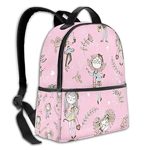 fepeng Mochila para niñas en color rosa para niñas y niños de viaje duradero casual adolescentes Bookbag 15 pulgadas portátil universidad Daypack mujeres hombres, Negro, Talla única