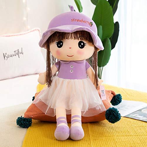 Muñeca De Trapo De Niña Muñeca De Juguete Muñeca De Princesa Que Acompaña La Almohada para Dormir para Enviar Regalos A Los Niños,Purple