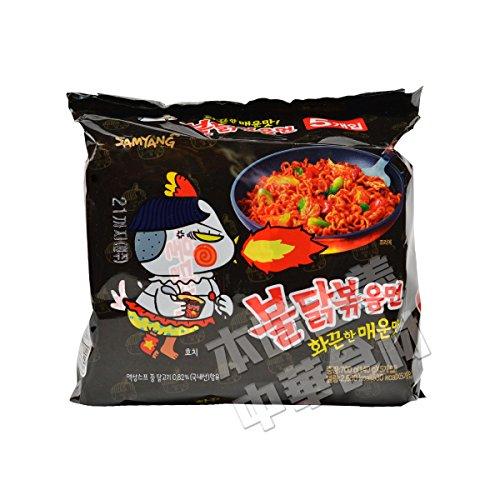 韓国産 SAMYANGブルタク炒め麺(辛口即席メン120g*5袋入)火鶏麺700g