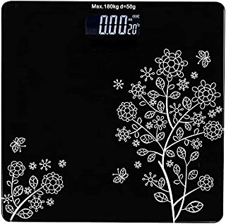 Emmelyn Electronic Thick Tempered Glass LCD Display Digital Personal Bathroom Health Body Weight Weighing Scales For Body ...