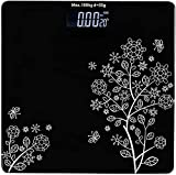 Emmelyn Electronic Thick Tempered Glass LCD Display Digital Personal Bathroom Health Body Weight Weighing Scales For Body Weight,...