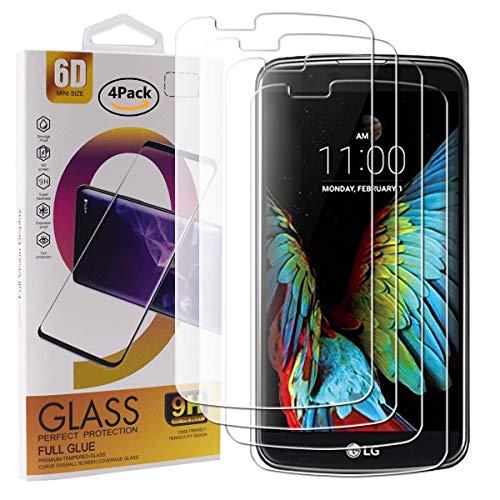 Guran 4 Paquete Cristal Templado Protector de Pantalla para LG K10 2016...