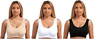 Marielle Ultimate Comfort Bra - w/Removable Pads - Pack of 3 Black White Beige