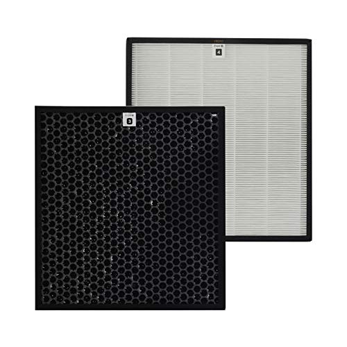 PUREBURG Juego de filtros de repuesto HEPA + filtro de carbón activo compatible con purificador de aire Philips AC4012/10, número de pieza AC4123/10 y AC4124/10.
