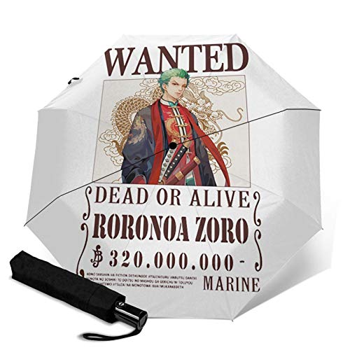 Anime One Piece Roronoa Zoro Popular Windproof Travel Umbrell Adouble Hole Folding Umbrella With Automatic Opening And Closing